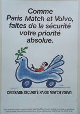 """CROISADE SECURITE PARIS MATCH VOLVO""Affiche originale entoilée SAVIGNAC 44x64cm"
