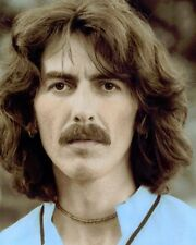 "GEORGE HARRISON SINGER SONG WRITER THE BEATLES 8x10"" HAND COLOR TINTED PHOTO"