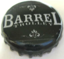 BARREL TROLLEY used Beer CROWN, Bottle CAP, World Brews, Rochester, NEW YORK