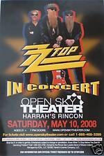 Zz Top 2008 San Diego Concert Tour Poster - Classic Texas Blues Rock Music