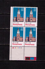 US USA Sc# 2337 MNH FVF PLATE # BLOCK Pennsylvania Tower Constitution 1987