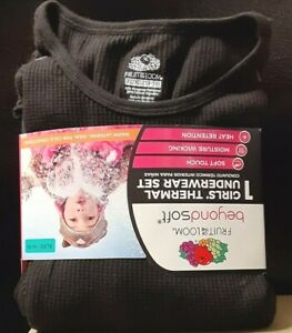 Fruit of The Loom Beyond Soft® Girl's Thermal Underwear Set Size XL (14-16) NWT