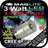 MAGLITE LED BULB GLOBE UPGRADE 3-6C/D CREE 3W TORCH FLASHLIGHT 3.2-9V 350+lm