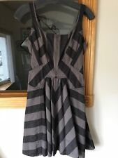 Marc by Marc Jacobs Fit and Flare Striped Strap Shoulder Denim Dress SZ 0 XS