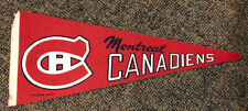 Vintage 1970 Montreal Canadiens Hockey Pennant Nhl Full Size With Wear