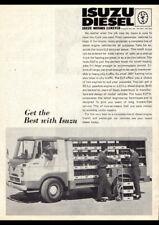 "1963 ISUZU ELF DIESEL TRUCK AD A2 CANVAS PRINT POSTER FRAMED 23.4""x16.5"""