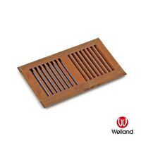 6 x 10 Inch Brazilian Walnut Hardwood Vents Floor Register Self Rimming