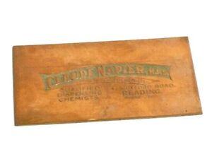 Antique 19thC Copper Printing Plate Claude Napier Chemists Reading #CP60