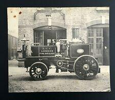 STAMPA 1913 MERRYWEATHER STEAM FIRE ENGINE LONDON BRIGADE POMPIERI AUTOPOMPA