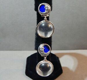 """Barry Kieselstein Cord/KC Studio Sterling Silver Enamel """"Crystal Ball"""" Earrings"""
