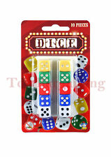 10 Pcs Dice Set Colorful Six Sided Home Casino Games Fun Playing Dice UK