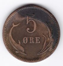 More details for 1874 denmark christian ix 5 ore | pennies2pounds