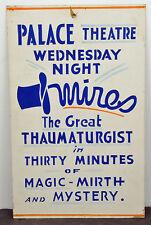 Rare 1940's Original Everette Mires Magician London, Ontario Magic Show Poster