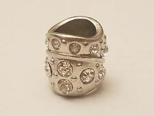 Alloy Rhinestone European Column Bead, Large Hole Bead, 12x12mm, Hole 5mm