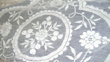 2 antique Victorian Lace tablecloth hand worked filet lace~bx52