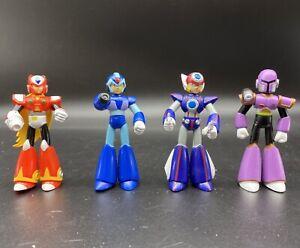 "Mega Man Figures Lot Of 4 Capcom Jazwares 2004 Action Figure 3"" Axl Vile Zero X"