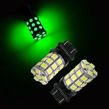 3156 3157 P27/7W T25 GREEN 30 SMD Stop Tail Brake Turn LED Car Light Lamp 2x