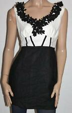 JV SELECTION Brand Black White Sleeveless Fitted Dress Size 10 BNWT #sy113