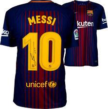 Lionel Messi signed FC Barcelona Soccer Jersey shirt Autograph La Liga Icons COA