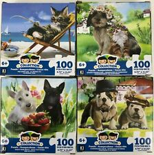 Dog and Cat 500 Pieces Jigsaw Puzzle for Kids Adults Animal pet Ages 8 10 12 Elk NorthKe