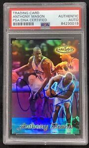 Anthony Mason Signed 1999 Topps Gold Label #17 Basketball Card Auto PSA/DNA