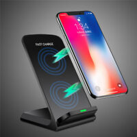 10W QI Fast Charger Wireless Charger Stand for Samsung S6 S7 Edge S8 S9 0U