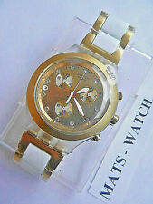 Swatch + irony diaphane Chrono + svck 4032ag Full Blooded Gold + nuevo/new