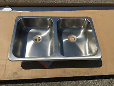 RV CAMPER HENGS RECTANGLE SQUARE BASIN BOWL SINK STAINLESS STEEL BATH KITCHEN