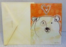 Valentine's Day Card Leanin' Tree White Bear With Envelope