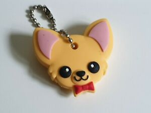 Chihuahua Chi dog PVC Key Cover Keyring /Novelty Gift Key Cap UK SELLER Free P&P