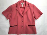 Womans Studio 1 Petite Jacket Blazer SIZE 16P   Pink