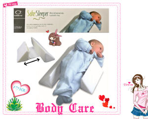 Adjustable Baby Side Sleep Pillow Support Wedge Newborn Infant Anti-roll Cushion