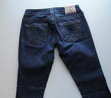 Women's True Religion Dark Straight Leg Blue Jeans Size 25