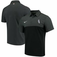 NWT Chicago White Sox Nike Dri Fit Performance Golf Polo Shirt Black 3XL $75