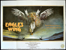 EAGLE'S WING 1979 Martin Sheen, Sam Waterston VIC FAIR UK QUAD POSTER
