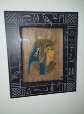Egyptian revival framed papyrus painting