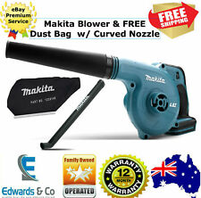 Cordless Blower Dust Bag Nozzle Curved for Wet Leaves Ease of Use 18v Makita