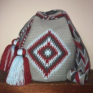 Authentic 100% Wayuu Mochila Colombian Bag Large Size Exclusive tribal print