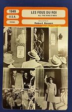 US Crime Drama All The King's Men Broderick Crawford French Film Trade Card