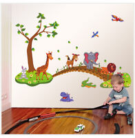 Cartoon Cute Animals Removable Wall Decal Stickers Kids Baby Nursery Room Décor