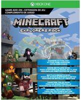 Minecraft Explorer's Pack Add-on  Xbox One (DIGITAL COPY) NEW!!!!