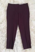 JCrew $138 Paley Pants Super 120s Wool 10 HTHR Cabernet 52331 NEW