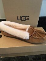 Womens UGG Solana Loafer Chestnut Brown Size 8 Suede Slip On slipper Shoes NWB