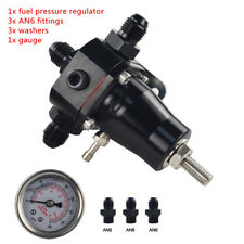 Universal Stainless Steel Fuel Pressure Regulator+Gauge+AN6 Fitting 30-70 PSI