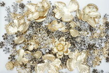 Metal Flower Jewelry Making Supplies 1.2lb Assorted Lot of Limited Old Stock