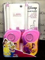 Disney Princess' Disney Pink Walkie Talkies with Belle and Rapunzel - Brand New