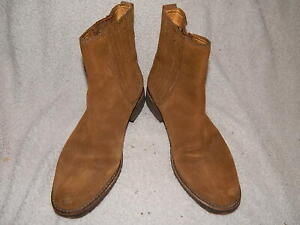 Timberland Brown Leather Slip On Ankle Boots Womens Size 6