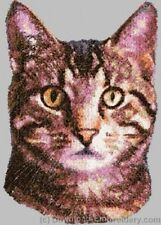 Embroidered Fleece Jacket - Tabby Cat DLE2644 Sizes S - XXL