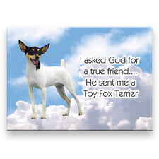 Toy Fox Terrier True Friend From God Fridge Magnet Dog