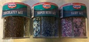 Dr. Oetker Super Hero, Fairy, Chocolatey Sprinkles Mix one 4-cell container New